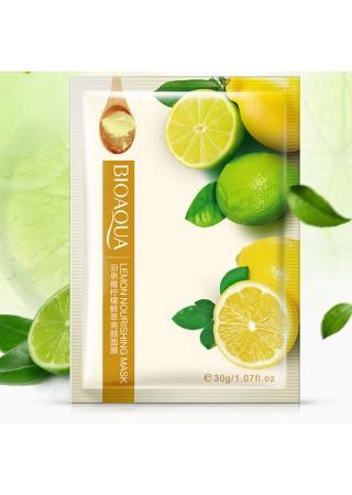Маска тканевая, питательная с экстрактом лимона BIOAQVA